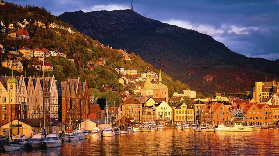 Bergen view from sea